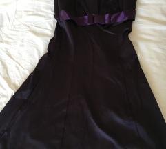 L méretű padlizsán színű ruha