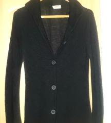 Fekete hosszított pulóver L