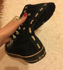 Fekete - bézs Converse cipő