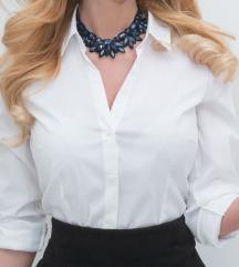 Eredeti H&M hófehér V-nyakú női ing (XS)