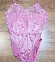 Rózsaszín selyem body