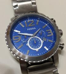 Fossil férfi óra kék acél szíj 50 mm eredeti új
