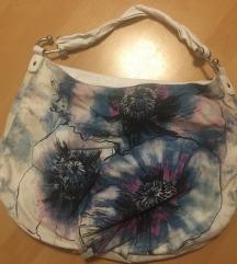 H&M virágos türkizes táska olcsón