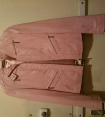 Rózsaszín bőr dzseki