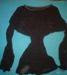 Átlátszó kötött rugalmas pulcsi