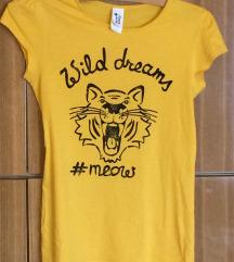Mustársárga állatmintás póló
