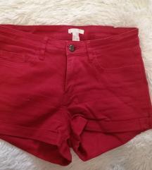 H&M piros rövidnadrág 34
