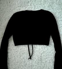 Fekete rugalmas pamut boleró