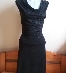 Orsay fényes fekete ruha, XS-es