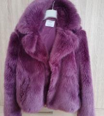 Bershka lila szőrmekabát