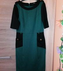 George zöld-fekete, meleg ruha, M-es