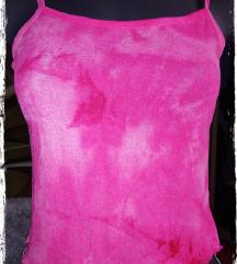 Pink batikolt necc top