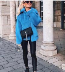 H&M vadiúj kék műszőrme kabát