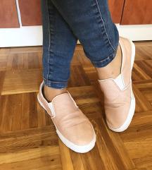 Púder/rózsaszín kényelmes cipő slip on -36
