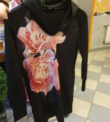 AMNESIA fekete pulover, tunika S-M