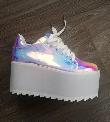 ÚJ extra holo platform cipő 37-37,5
