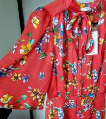 Új címkés Mango sálgalléros midi ruha S
