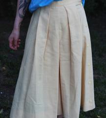 Yves Daincourt sárgás-bézs culottes