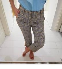 Új olasz kockás nadrág s/m.-es méret