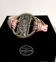Cango&Rinaldi nude, ezüst kristály karkötő