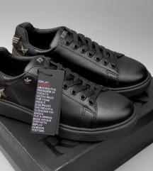 REPLAY bőr/textil fekete új címkés sportcipő