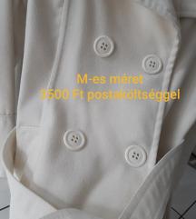 M-es Fehér szövetkabát