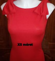 Új piros masnis mini ruha