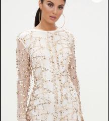 ÚJ Pretty Little Thing- Rosegold ruha