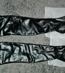 Fekete bélelt combcsizma (40-es)