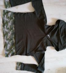 Zöld terepmintás pulóver