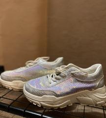 Fluffyslippers ezüst cipő