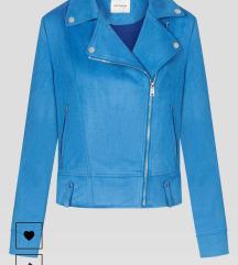 Orsay velúr kék kabát 36