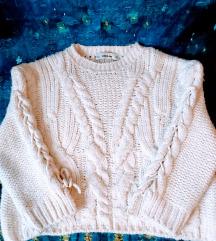 ZARA törtfehér kötött pulóver