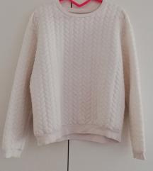 Bershka fehér pulcsi