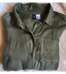 H&M khakizöld ingruha/hosszított ing