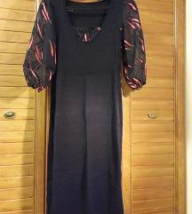 Lila mintás alkalmi ruha