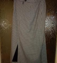 Fekete fehér kockás maxi szoknya
