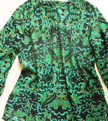 Zöld-fekete mintás blúz, S/M