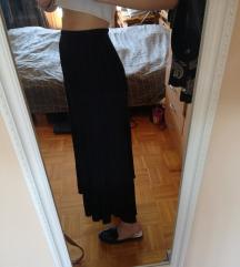 ÚJ PRIMARK plisszírozott fekete maxi szoknya