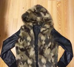 Műbőrös műszőrmés kabát