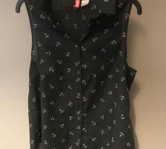 H&M horgonyos fekete blúz