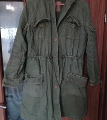 Zöld zsebes átmeneti kabát L