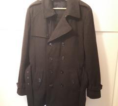 Fekete szövet kabát