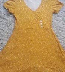 Új Lefties sárga pamut ruha S/M