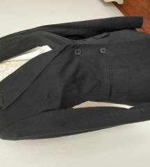 Szürke kosztüm szűkített blézer + nadrág + szoknya