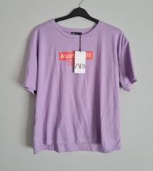 Zara lila címkés póló