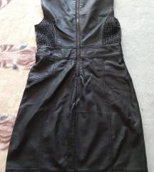 Fekete bőr ruha