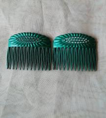 Zöld pár hajcsat