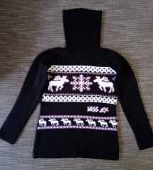 S-es fekete, mintás pulóver (csúnyapulcsi), magyar