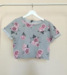 H&M vintage rózsás crop top
